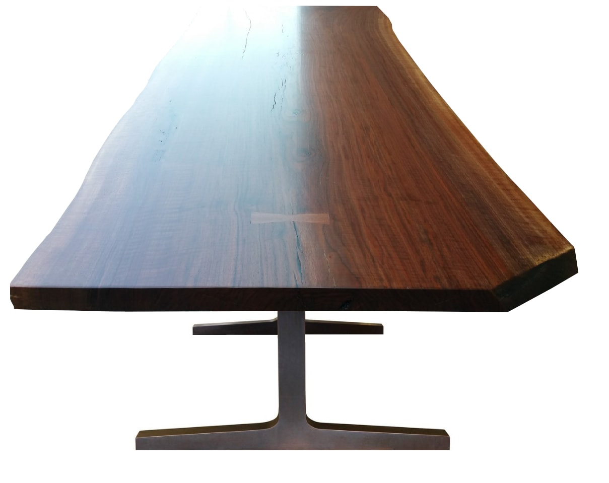 Tables by fab&made seen at 135 Madison Ave, New York - Live Edge Dining Table American/Black Walnut