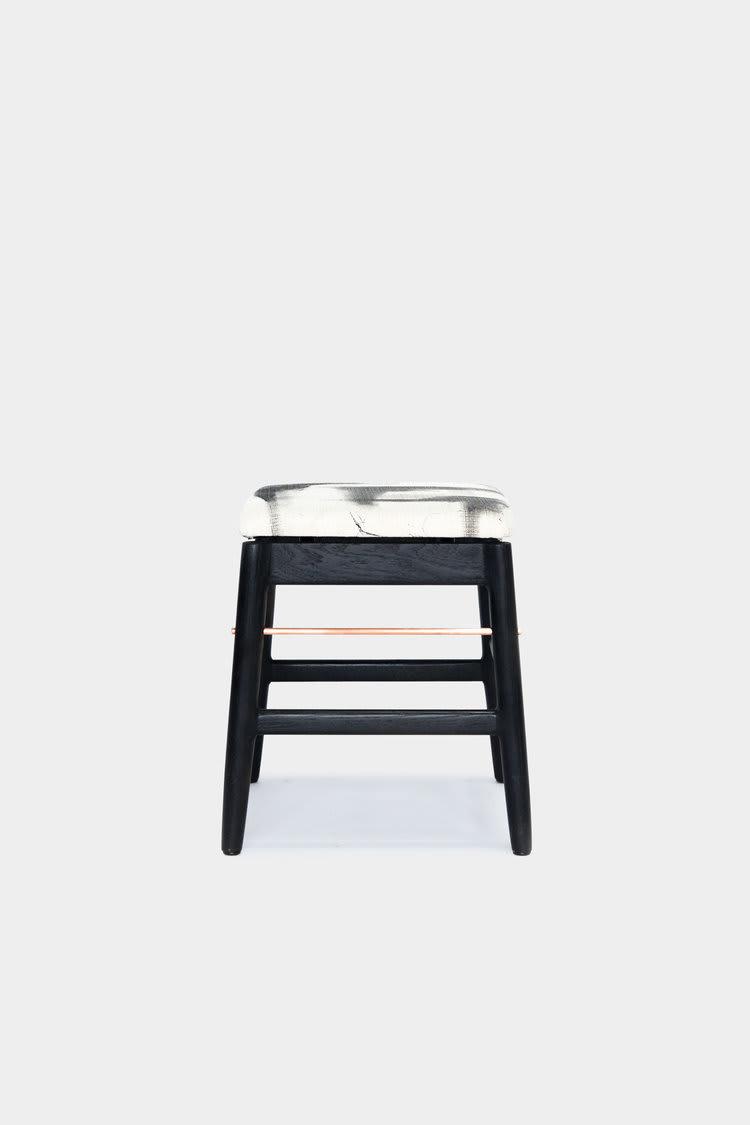 Chairs by Chris Earl at Otium, Los Angeles - Low Wood Stool