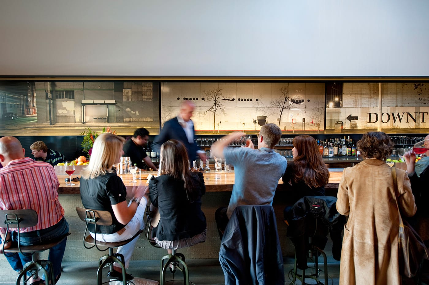 Murals by Thomas Winz at Bar Agricole, San Francisco - Urbanscape Mural