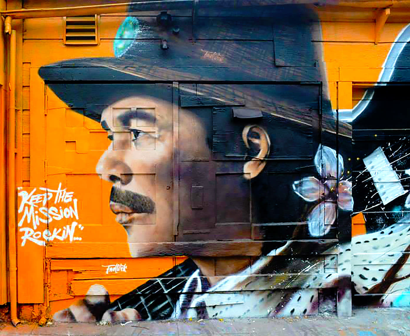 Murals by Alexander Tadlock seen at San Francisco, CA, San Francisco - Keep The Mission Rockin