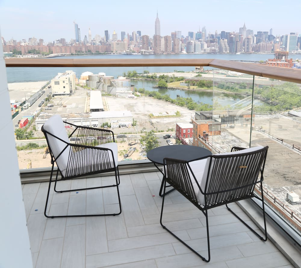 Chairs by Oasiq seen at The William Vale, Brooklyn - Sandur, Serac and Yland Collection