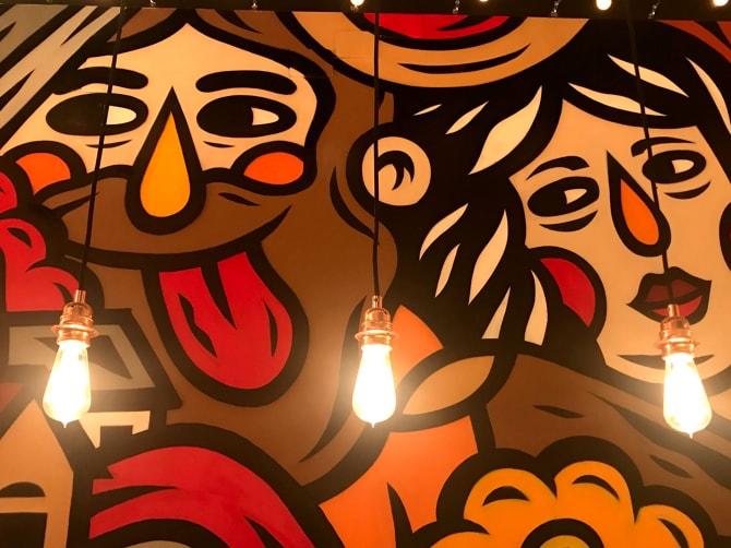 Murals by THE CAVER seen at A Cultura do Hambúrguer, Lisboa - Indoor Mural