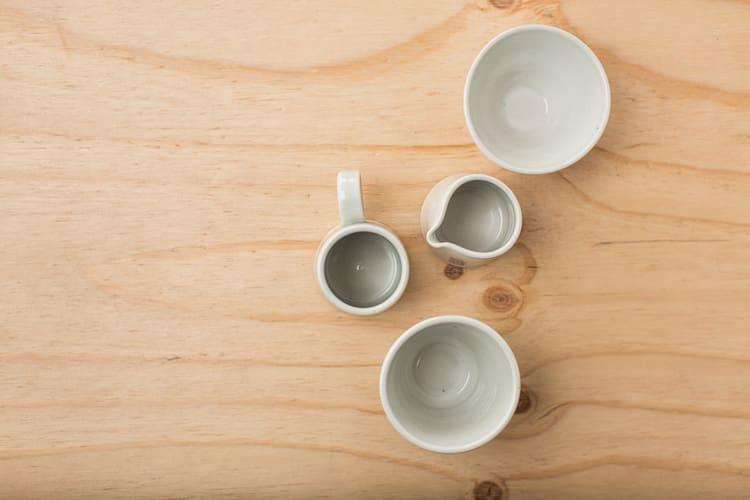 Tableware by Nobuhitu Nishigawara seen at Dinosaur Coffee, Los Angeles - Ceramic Mug