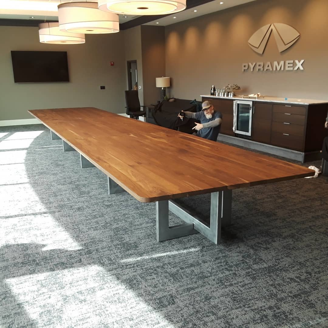 Tables by City Wood seen at Pyramex Safety, Piperton - Conference Table