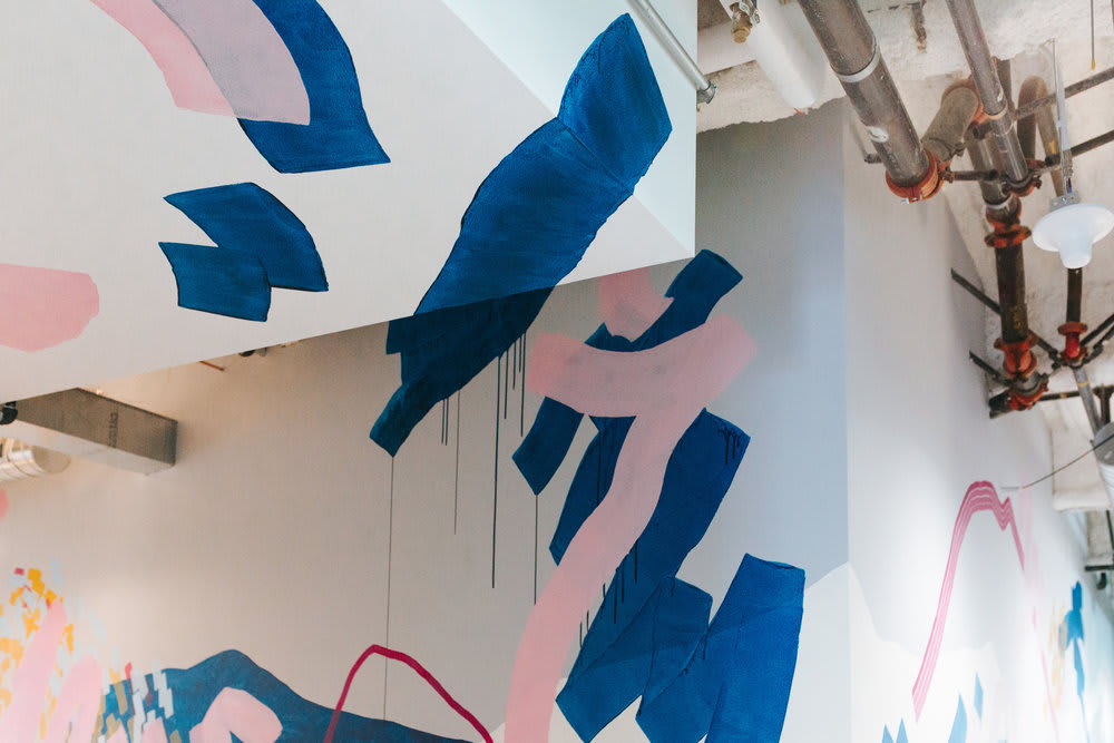 Murals by Heather Day seen at YouTube, LLC, San Bruno - Mural in YouTube