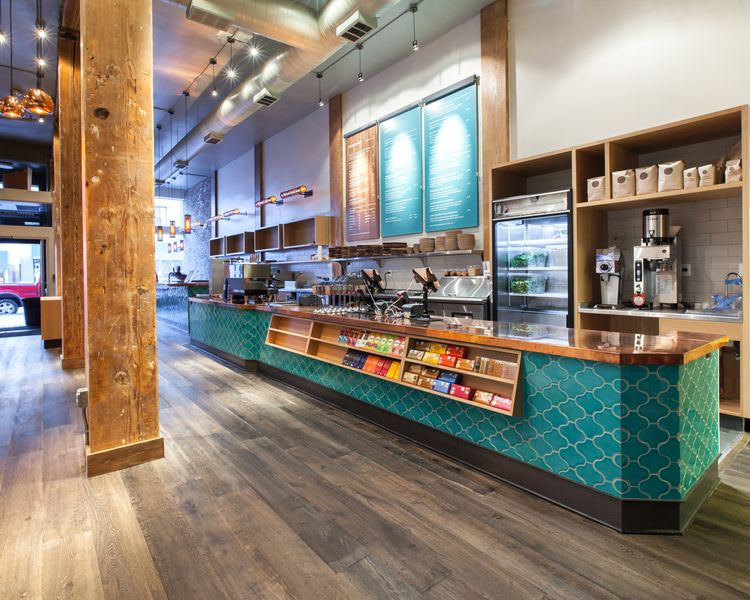 Tiles by Fireclay Tile seen at Soma Eats, San Francisco - Turquoise Moroccan Tiles