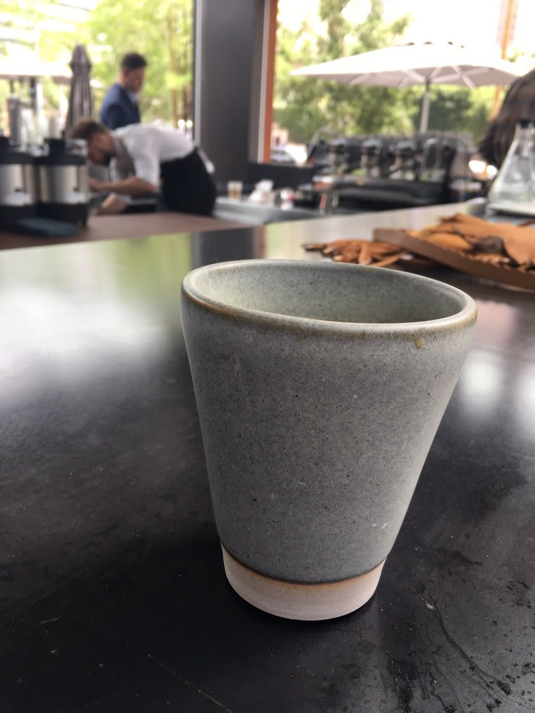 Cups by Nobuhitu Nishigawara seen at Nice Coffee, Los Angeles - Coffee Cups