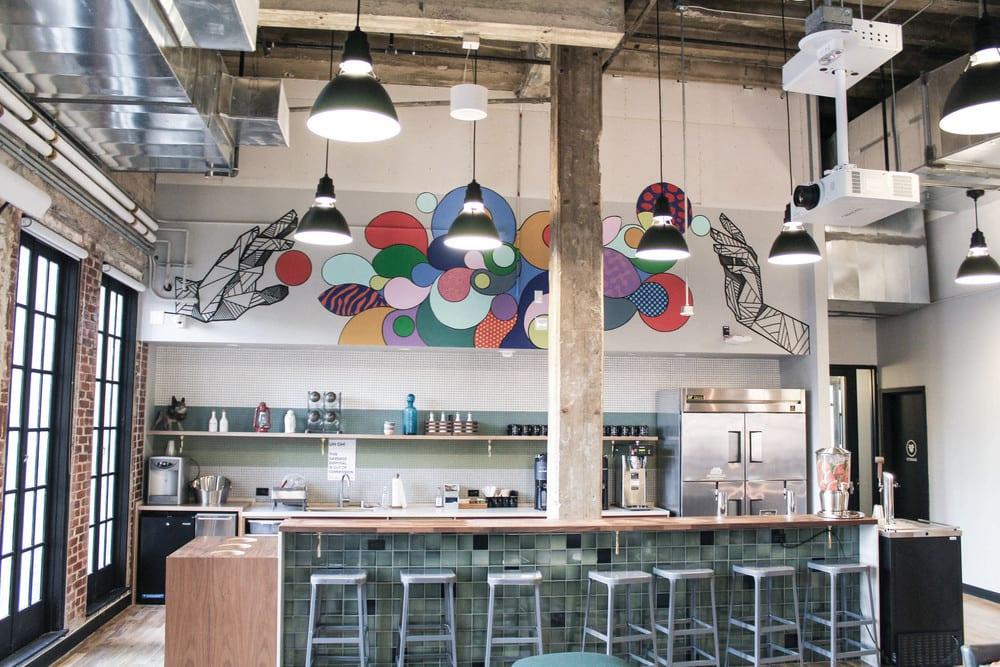 Murals by Allison Kunath seen at WeWork Fine Arts Building, Los Angeles - WeWork