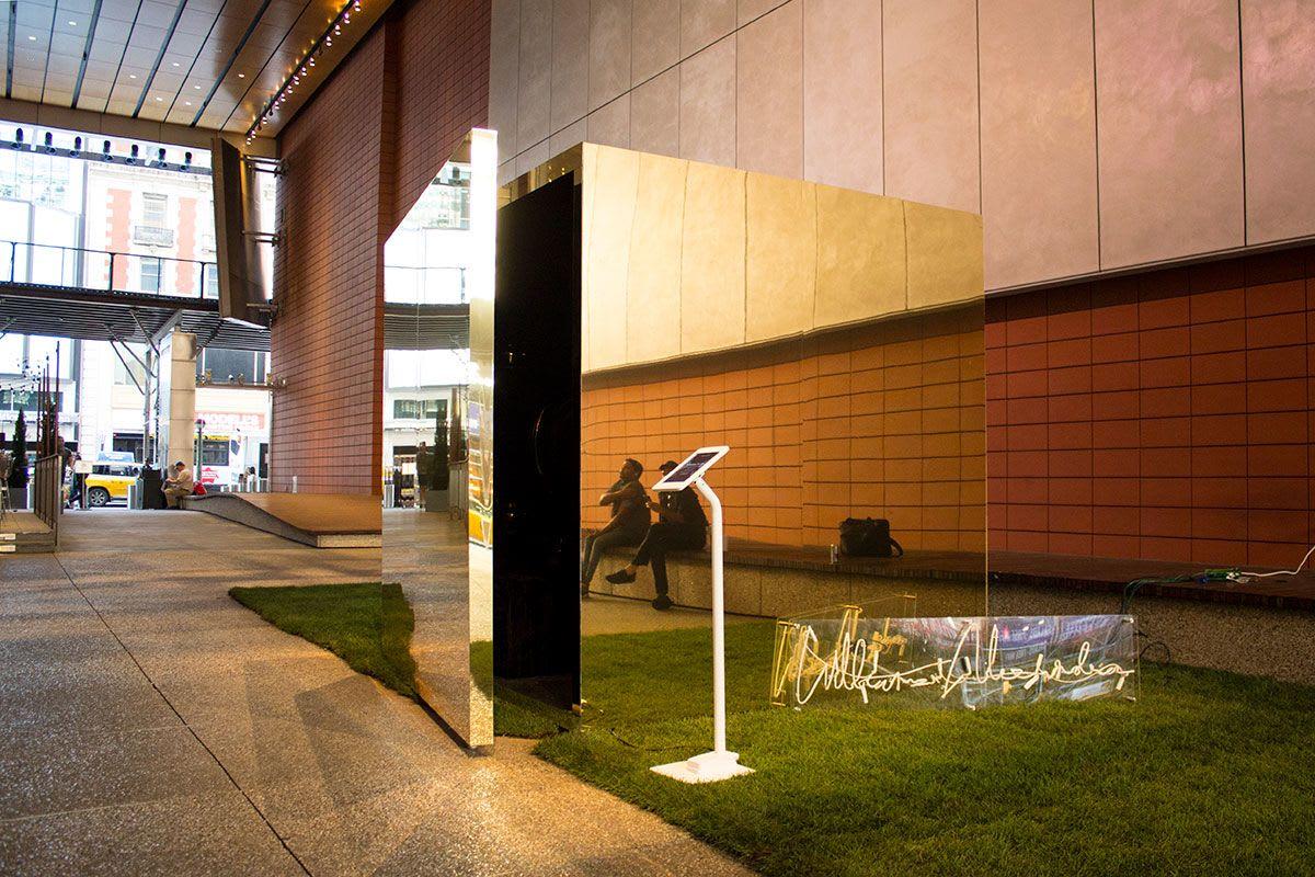 Sculptures by Gamelatron (Aaron Taylor Kuffner) seen at Anita's Way, New York - Gamelatron Jiwa dan Raga in a Golden Cube