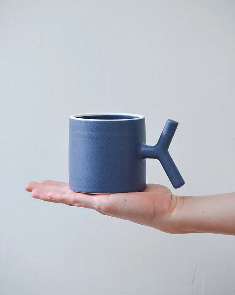 Cups by Stone + Sparrow seen at Private Residence, Pittsburgh - Handmade Ceramic K-Grip Mugs