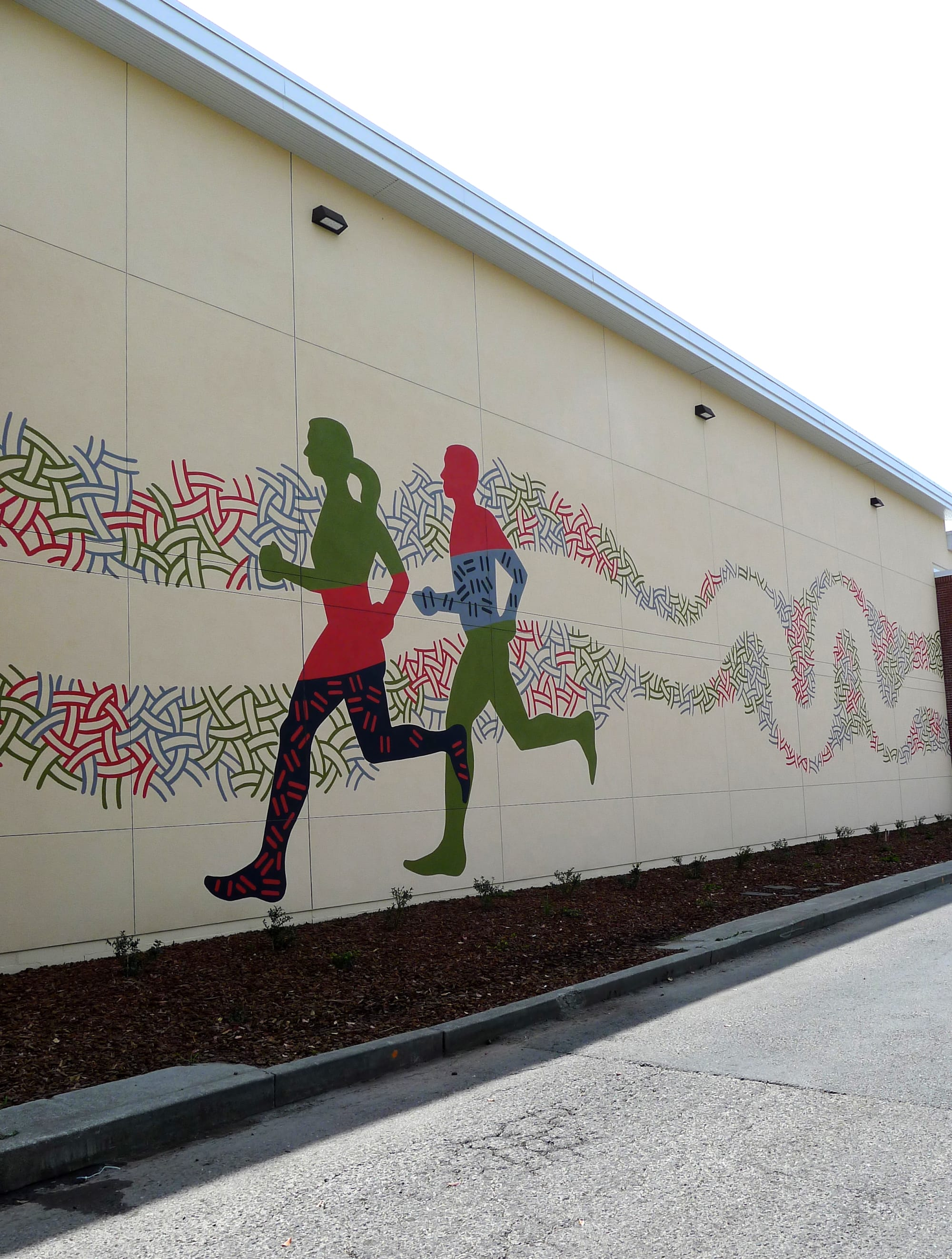 Murals by Martin Webb seen at DICK'S Sporting Goods, Santa Rosa - Mural, Cyclists and Runners