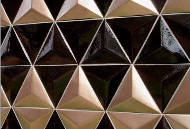 Tiles by Design and Direct Source seen at Felix, Los Angeles - Santos Series: Dimension