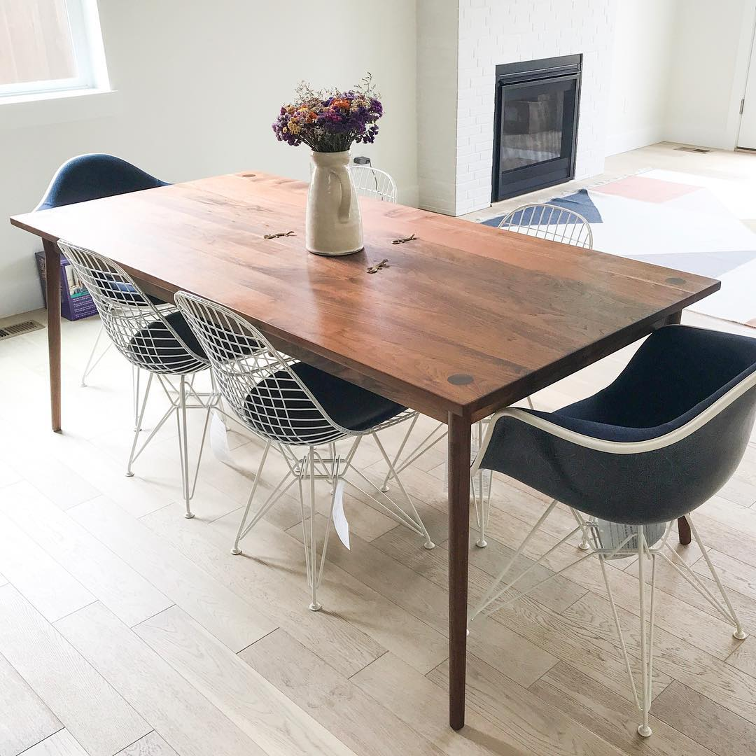 Custom wooden dining table