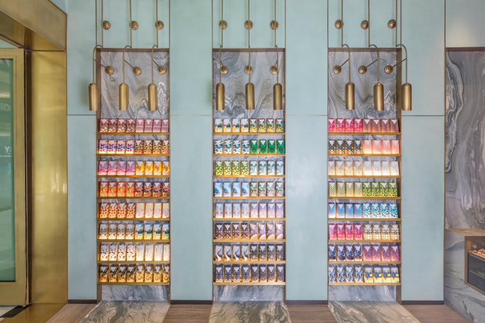 Pendants by Ron Dier Design seen at Compartes Chocolates Los Angeles Flagship Boutique at Century City, Los Angeles - Pendant Light Fixture
