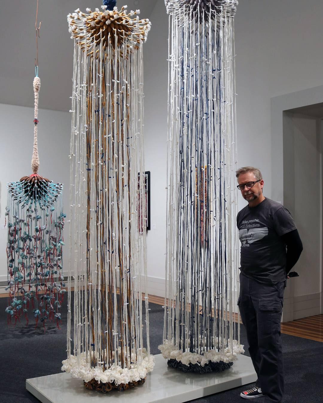 Sculptures by Joel S. Allen seen at University of Nebraska Omaha, Omaha - Fiber Sculptures