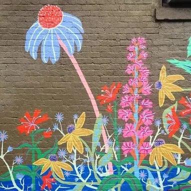 Street Murals by Liz Richter seen at Red Tree Furniture, Louisville - #NuluWildflower