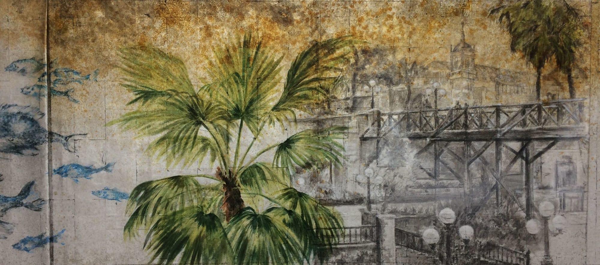 Murals by Letty Samonte seen at Barranco Cocina Peruana, Lafayette - Barranco