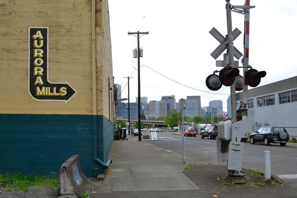 Signage by J&S Signs seen at Aurora Mills Events, Portland - Aurora Mills PDX