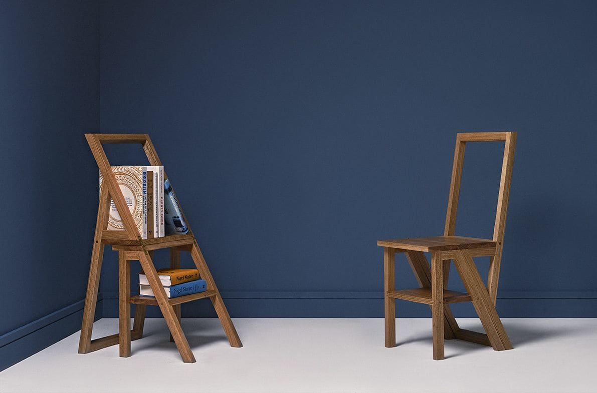 Chairs by CHARLIE CAFFYN FURNITURE seen at Private Residence, Stourton - Iford Library Step Chair