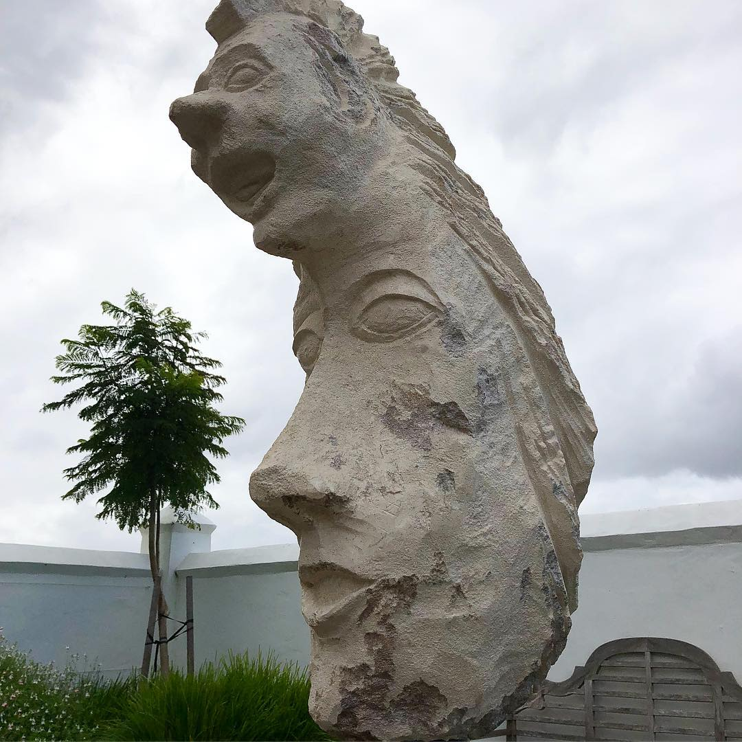 Sculptures by Kashmir Rouw seen at Voyager Estate, Margaret River - Voyager