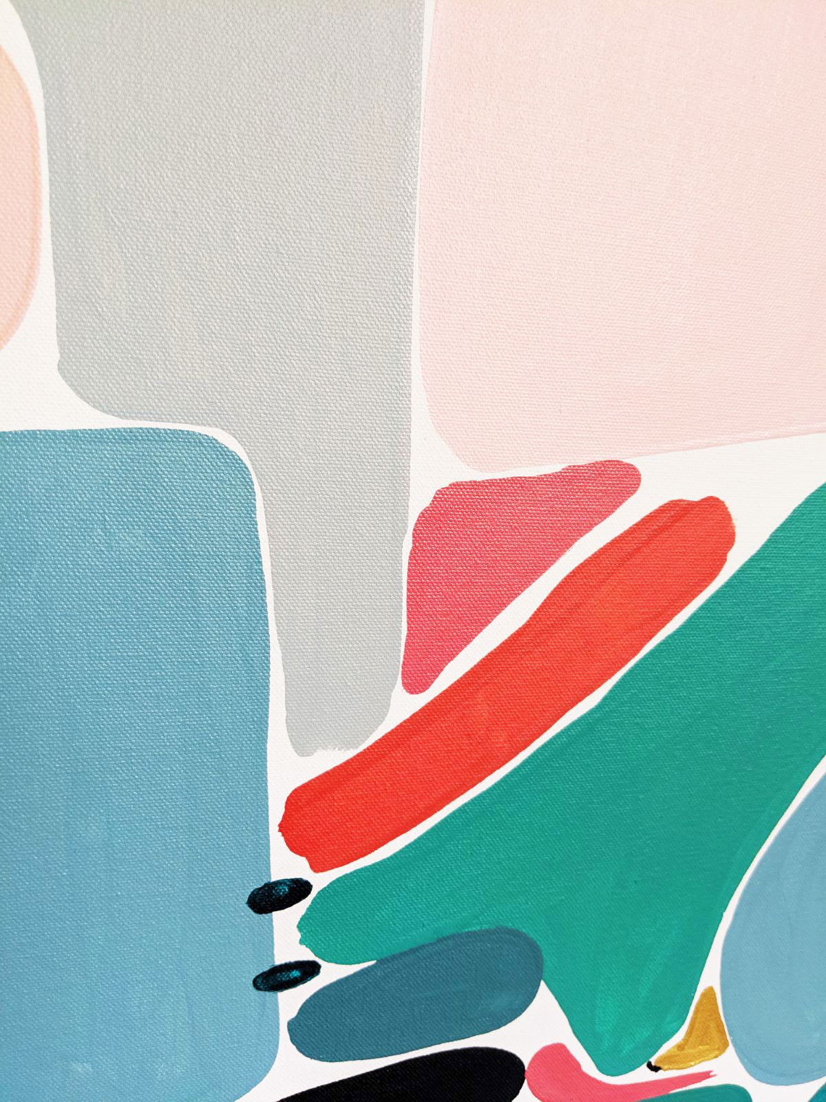 Paintings by Ellen McKenna seen at Town Hall Gallery, Hawthorn - 'Looking at it from Here'
