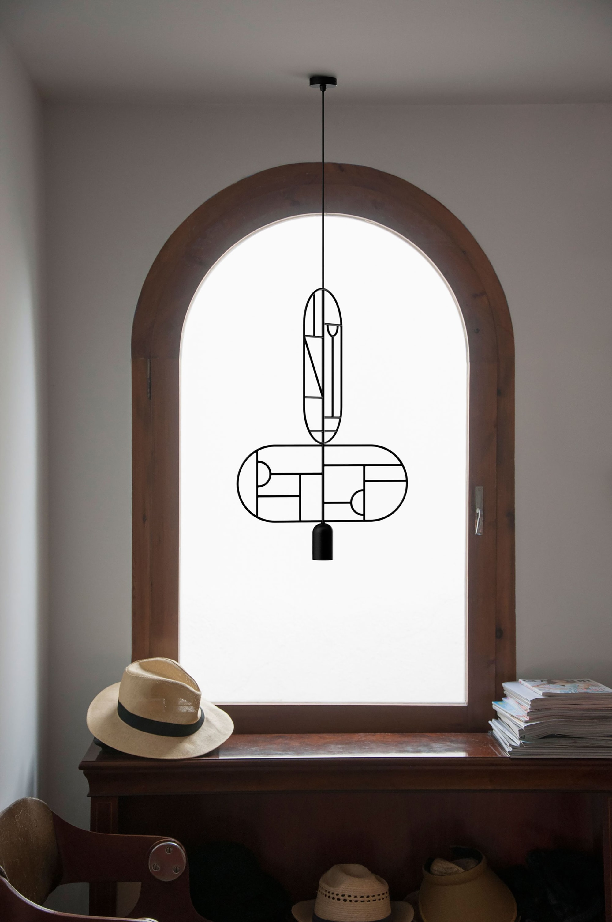 Pendants by GOFI seen at Private Residence, Barcelona - Lines & Dots