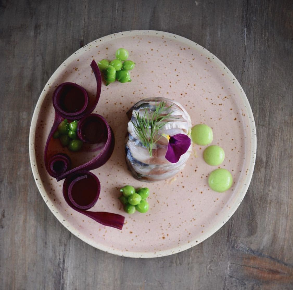pink ceramic plate