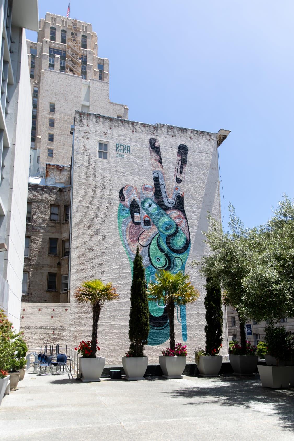 Street Murals by James Reka seen at 154 McAllister St, San Francisco - Peace