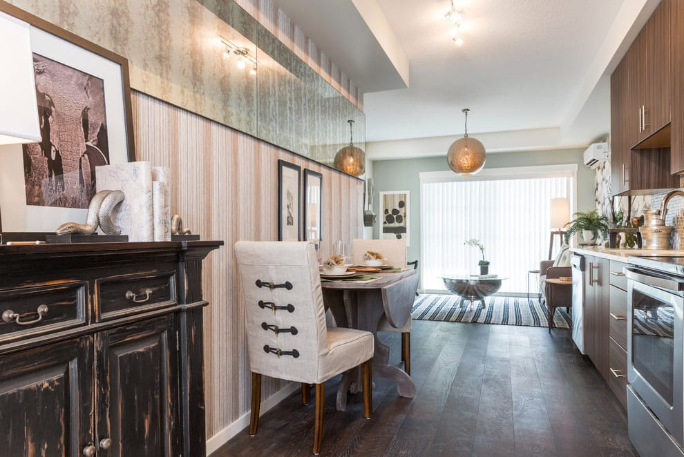 Interior Design by ANA Interiors Ltd at My Legacy Park Sales Centre, Calgary - Interior Design