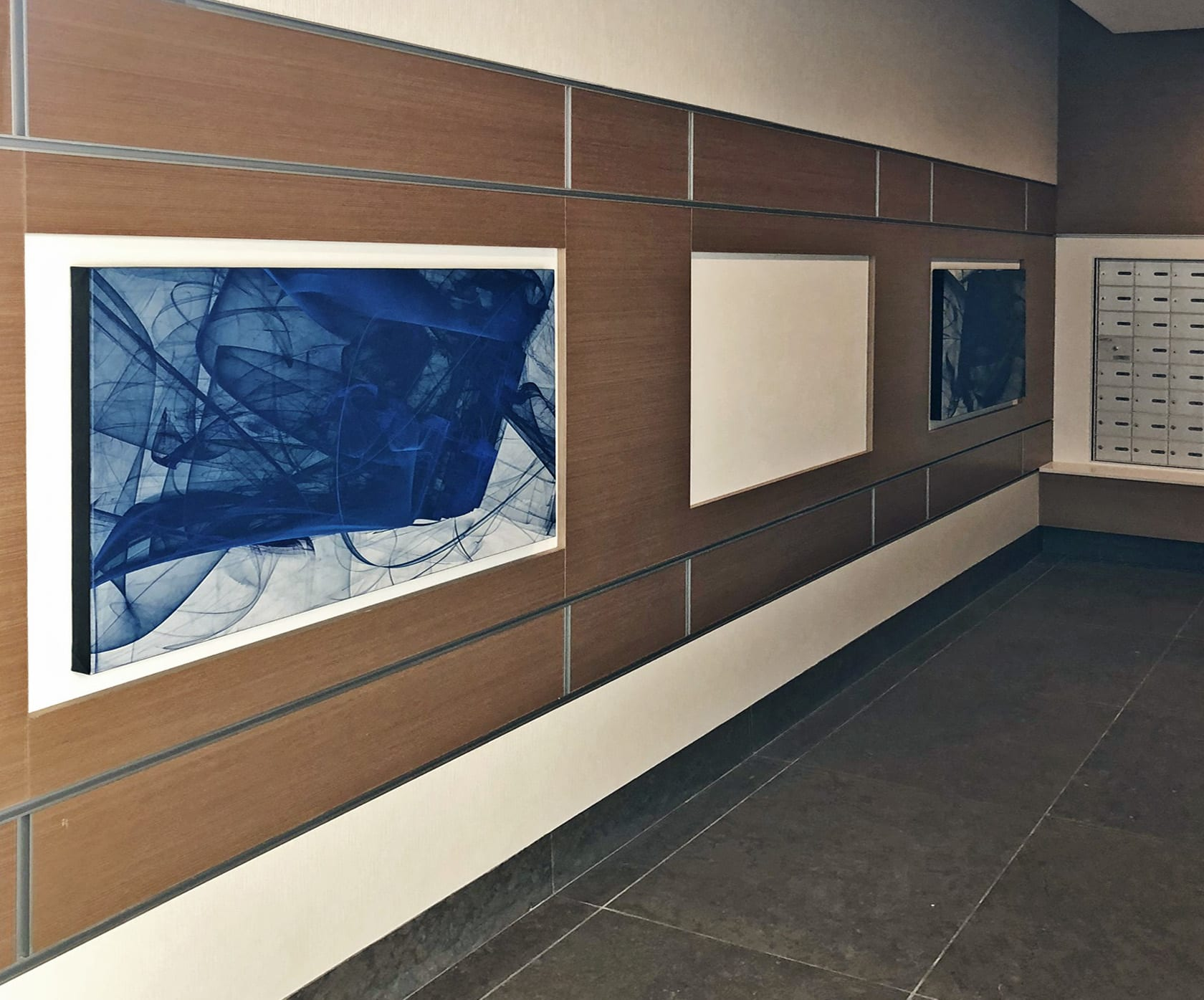 Art & Wall Decor by Rica Belna seen at Vancouver, Vancouver - Art at Station Square (residential high rise)