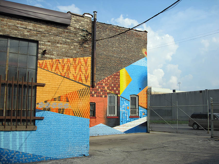 Murals by Chris Silva seen at Metomic Corporation, West 26th Street, Chicago, IL, Chicago - Triple Heart Bypass