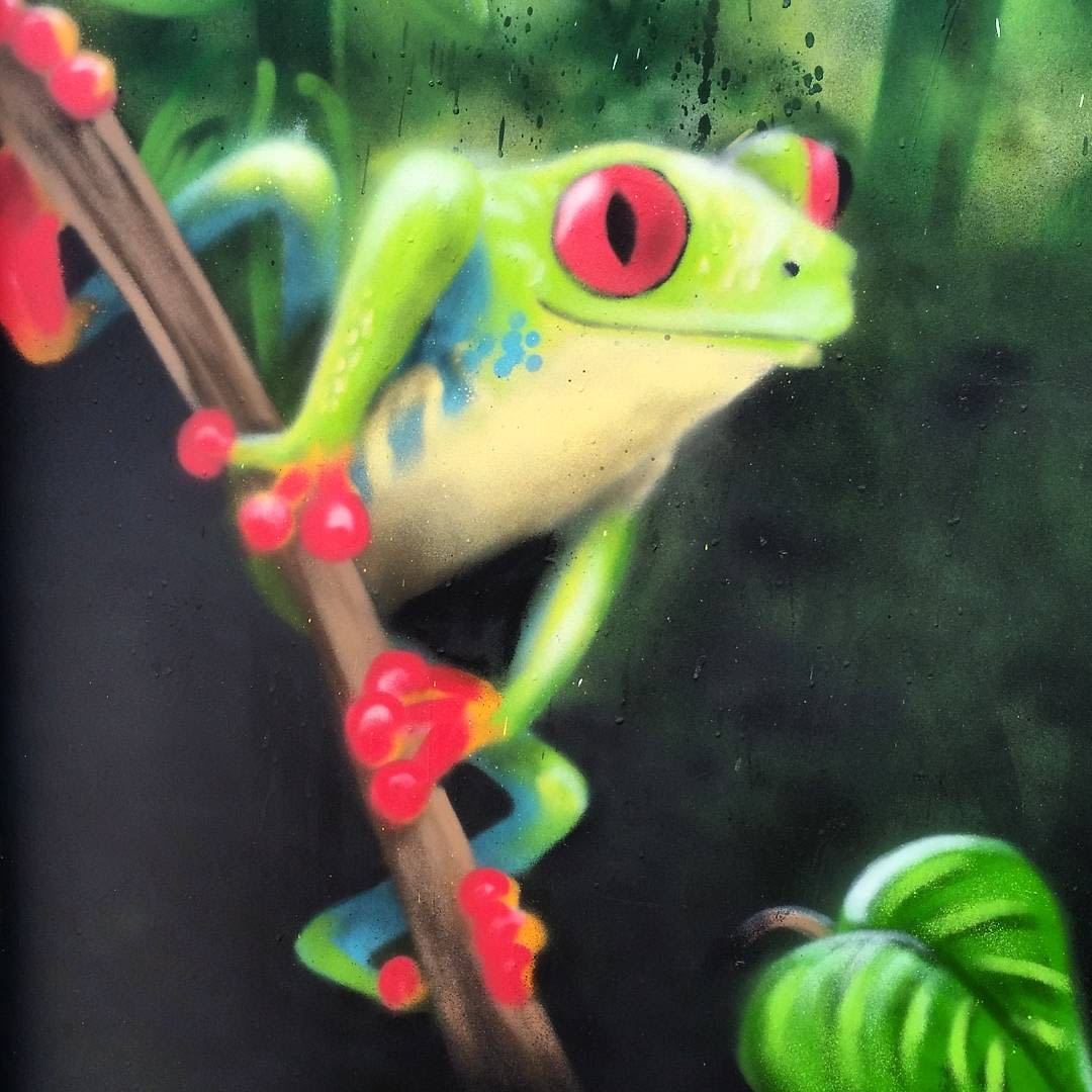Frog and Rainforest Door detail