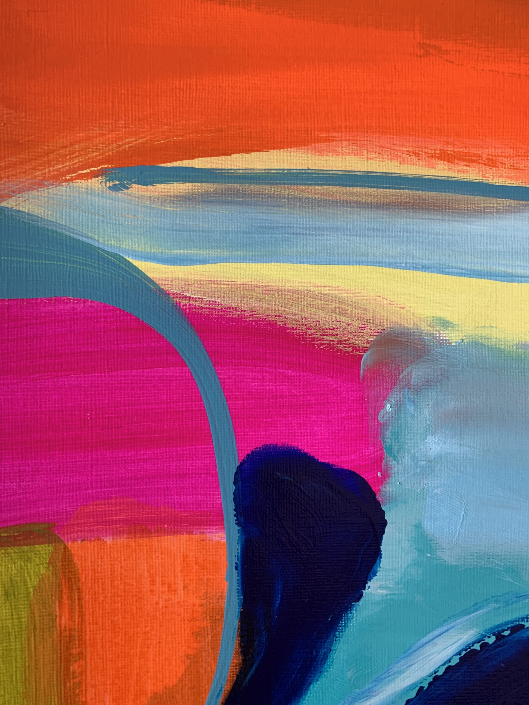 Paintings by Darlene Watson seen at Private Residence, Southampton - Colours Of Cali - Red