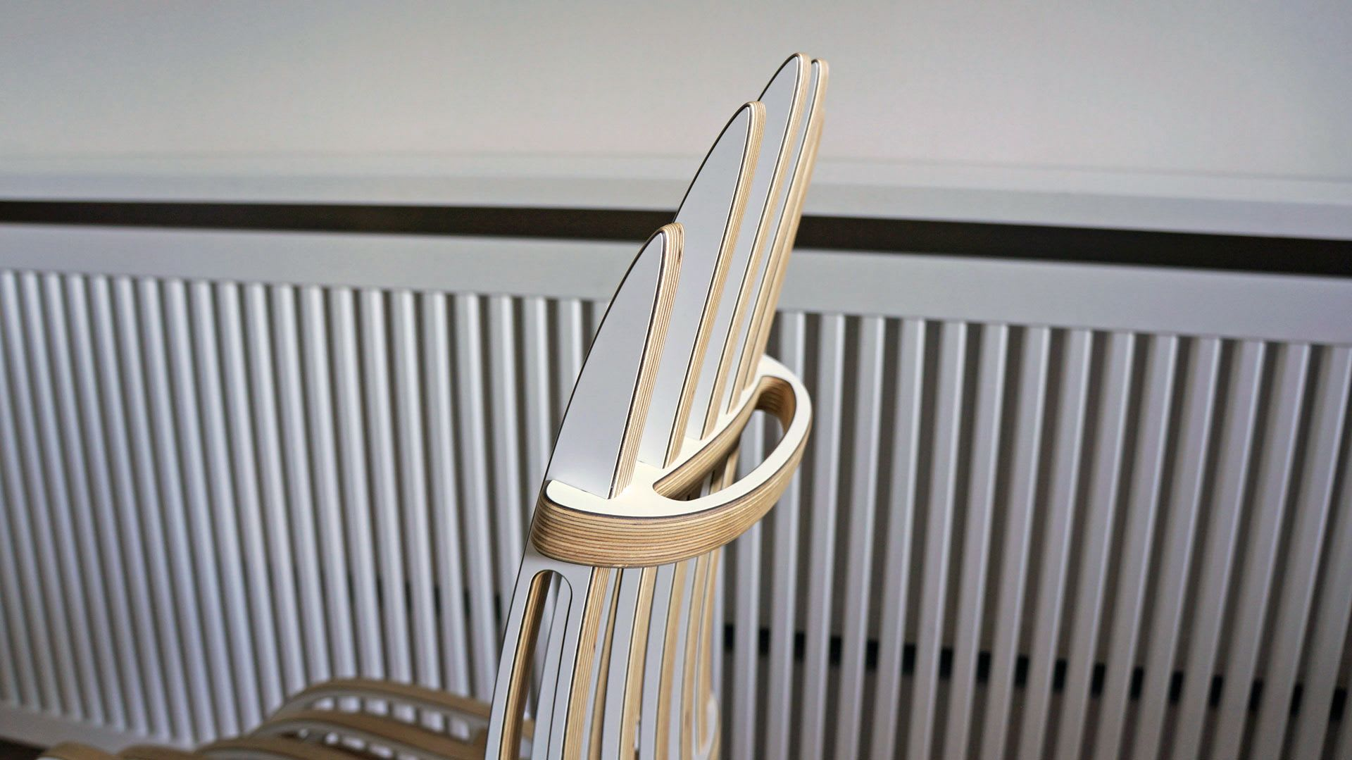 Chairs by Peter Qvist seen at Private Residence, Hornbæk - Qvist Side Chair - White