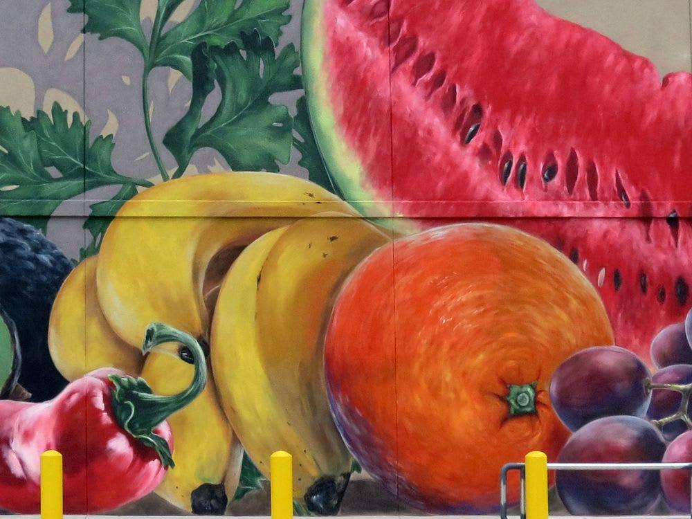 Street Murals by Anat Ronen seen at Fiesta Mart, Conroe - The fiesta murals
