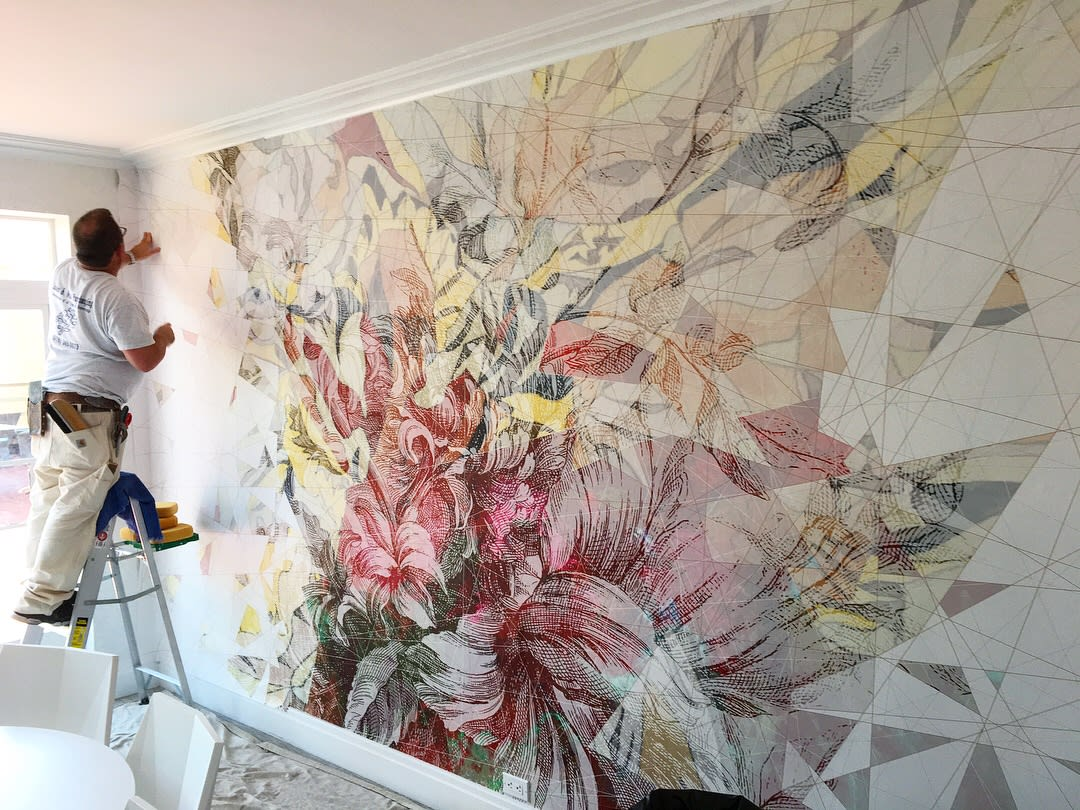 Murals by Stefan Hengst Design seen at 240 Central Park S, New York - Wall Installation Solarium Room 240 Central Park South