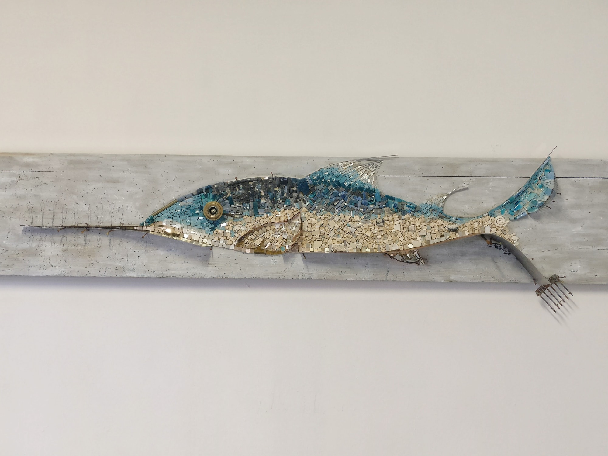 Public Mosaics by Rossella Casadio seen at Maltraversi, Arzignano - Sega (Saw)