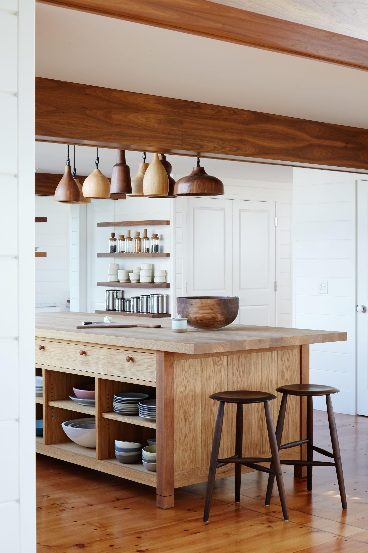 Light wood kitchen furniture