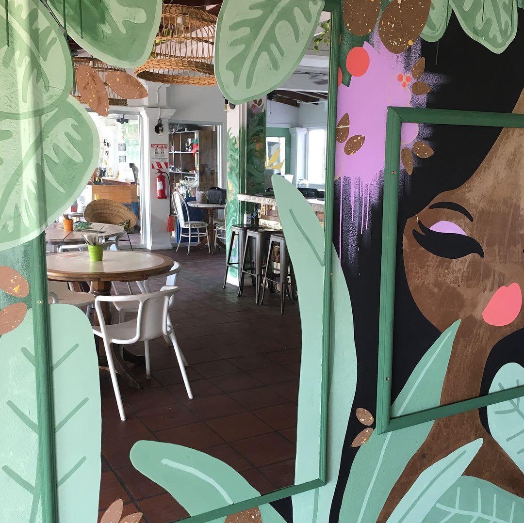Murals by pepallama seen at Selina Manuel Antonio, Quepos - Jungle Girl