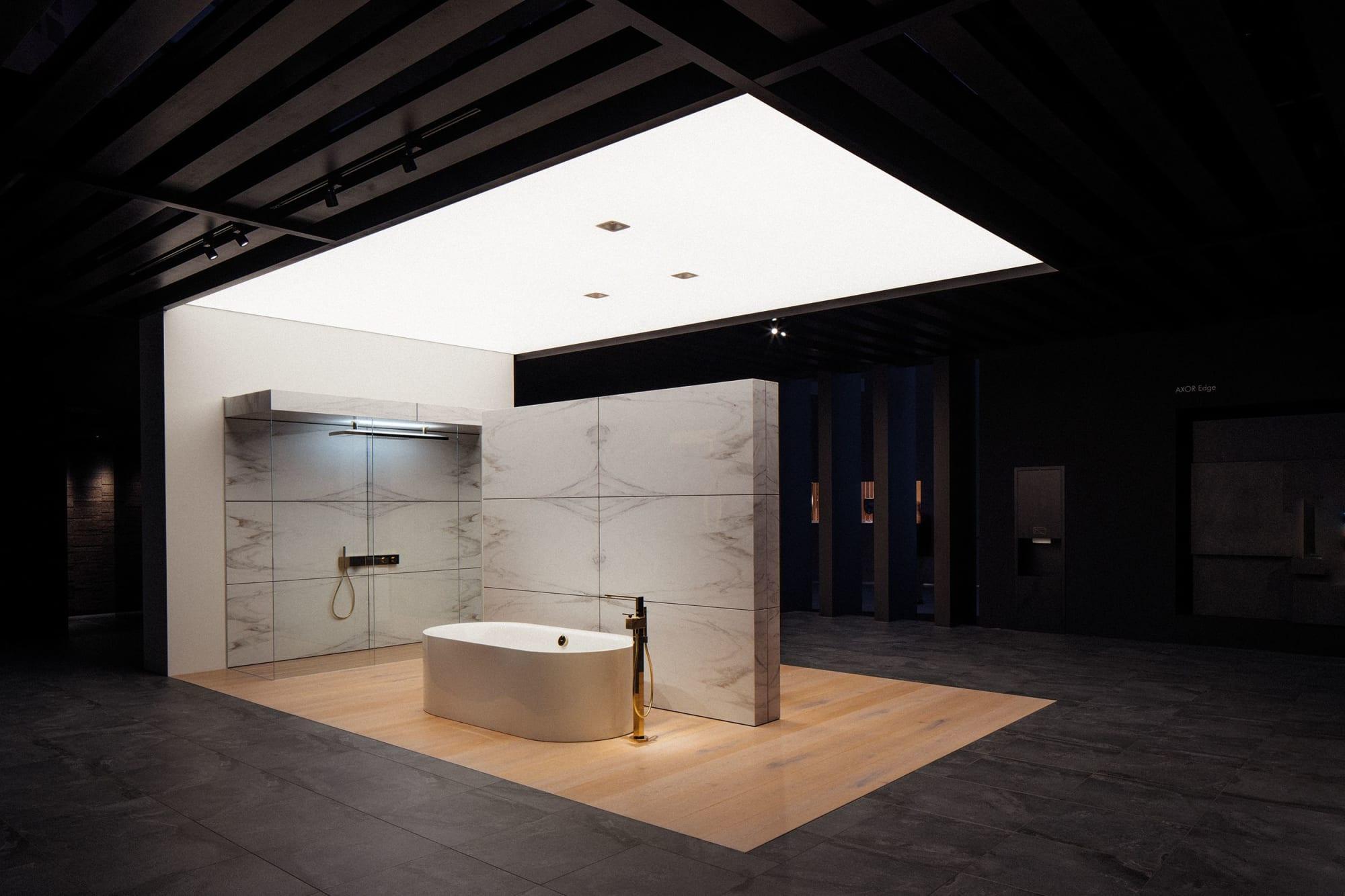 Interior Design by 1zu33 seen at Frankfurt(Main) Messe, Frankfurt - Booth at ISH 2019, hansgrohe/AXOR