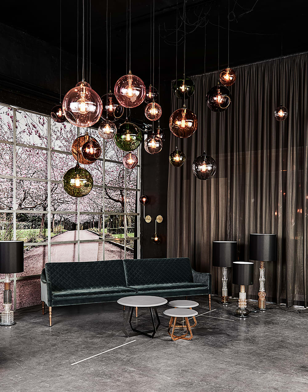 Pendants by Marie Burgos Design seen at Private Residence, New York - BALLROOM XL PENDANT LIGHT