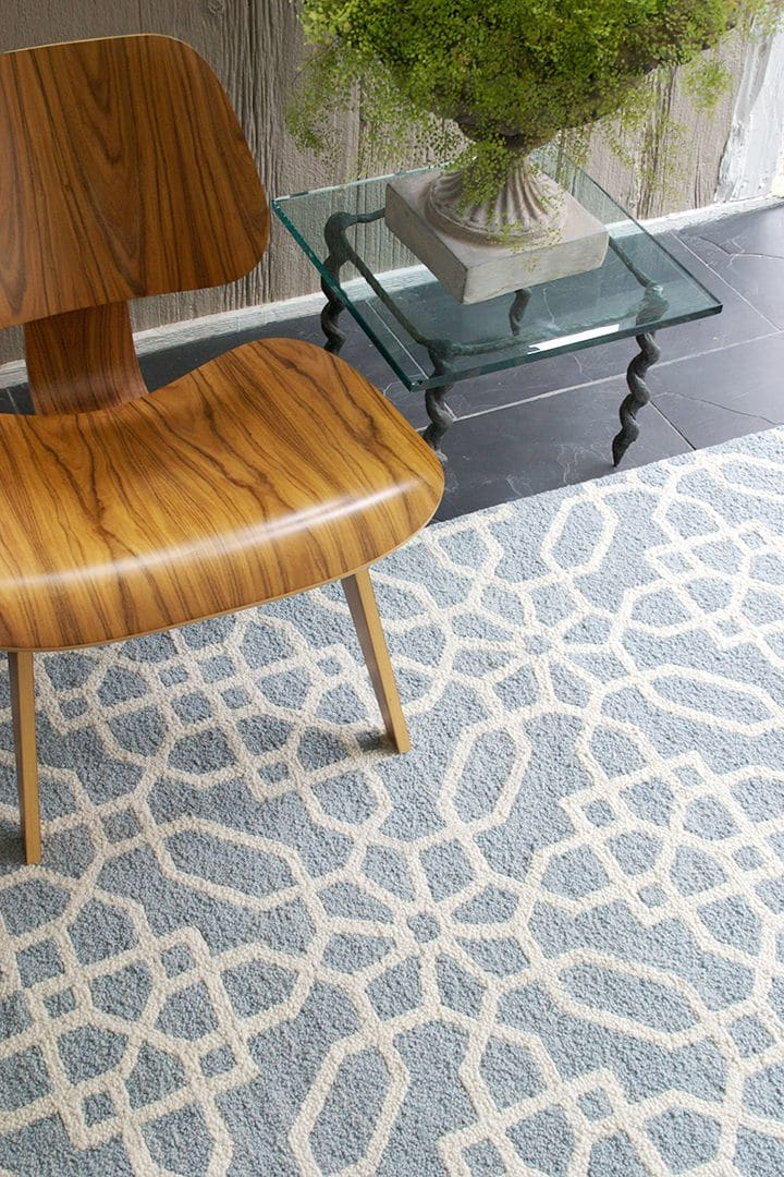 Pantone and White Repeating Pattern Rug