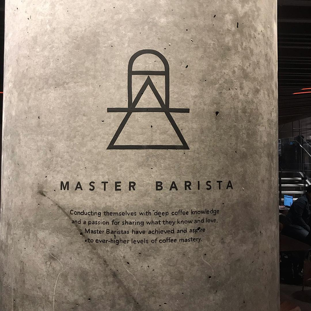 Murals by Very Fine Signs seen at Starbucks Reserve New York Roastery, New York - Column Lettering
