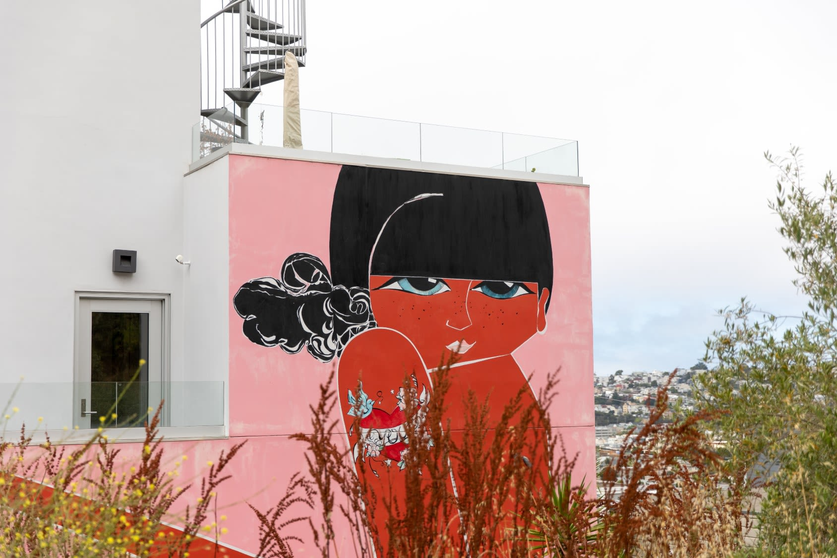 Murals by Casey O'Connell seen at Private Residence, San Francisco - Tic Tac