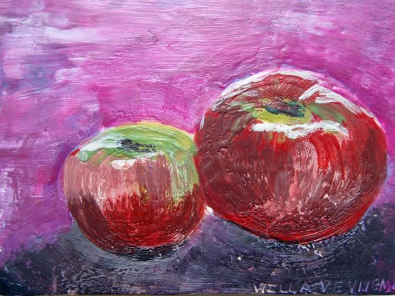 Paintings by willa vennema seen at Private Residence, Philadelphia - Apple Series