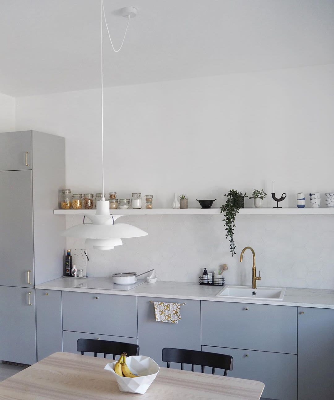 White Scandinavian Minimalist Light Pendant