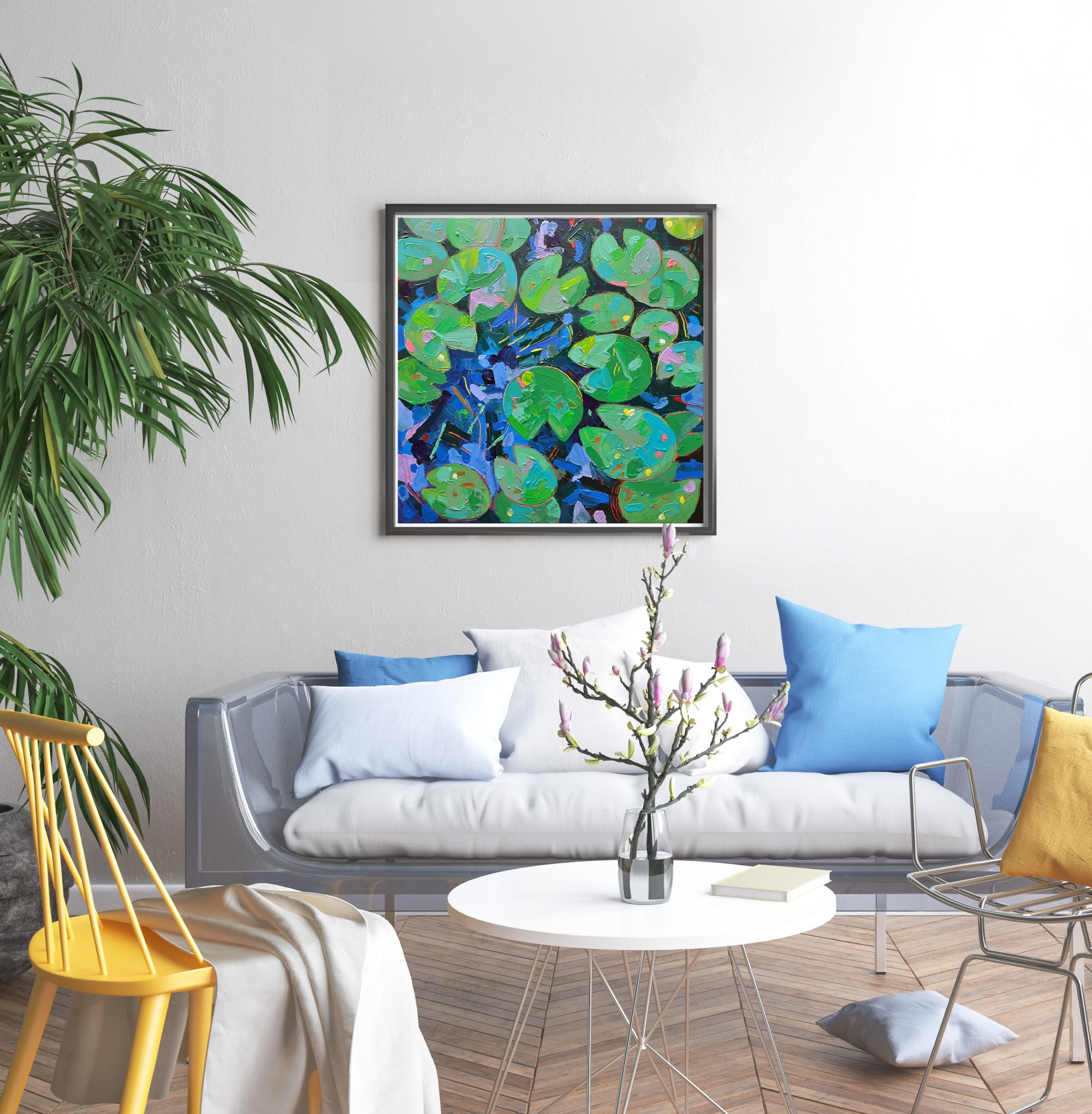 Pop Art Waterlily Painting