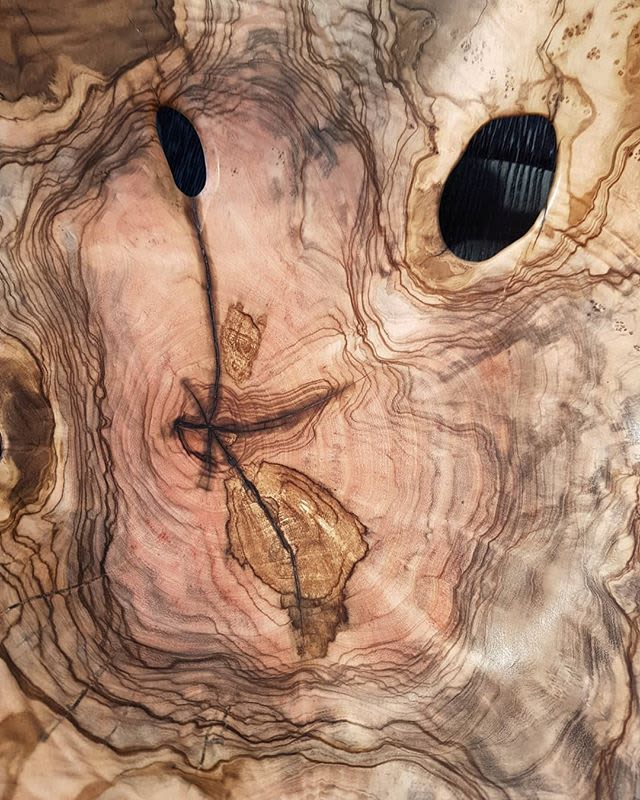 Art & Wall Decor by Rodney Band seen at Southern Guild, Cape Town - Wild Olive Root hand-turned sculptural platter
