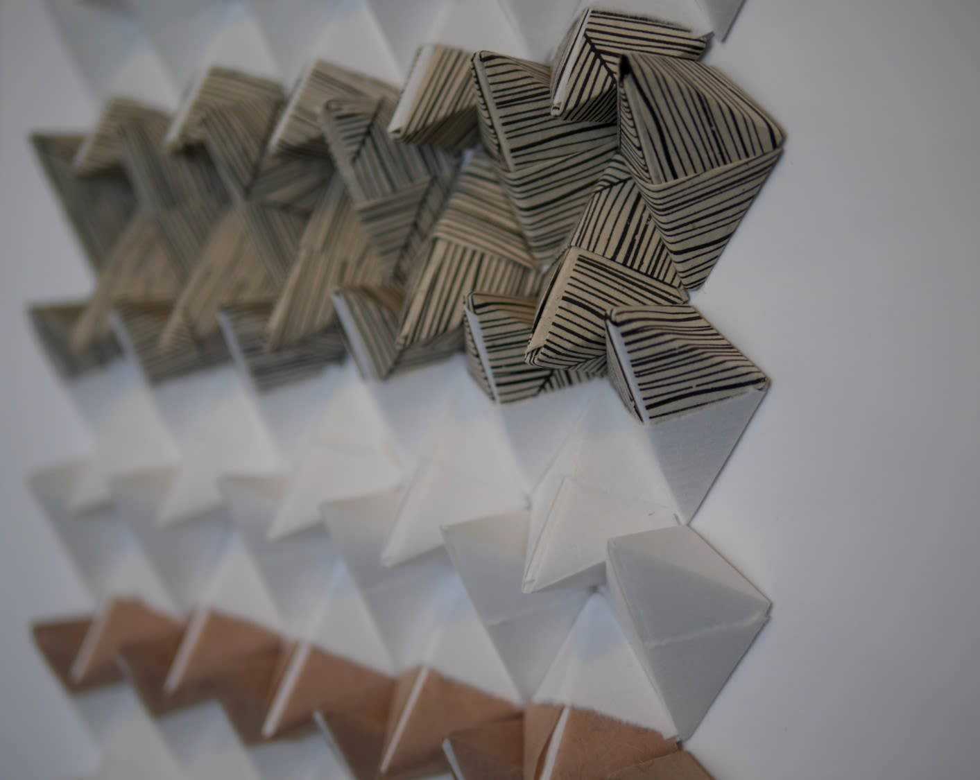 Art & Wall Decor by StudioNEA Design seen at Wescover Gallery at West Coast Craft SF 2019, San Francisco - Folded Paper Art