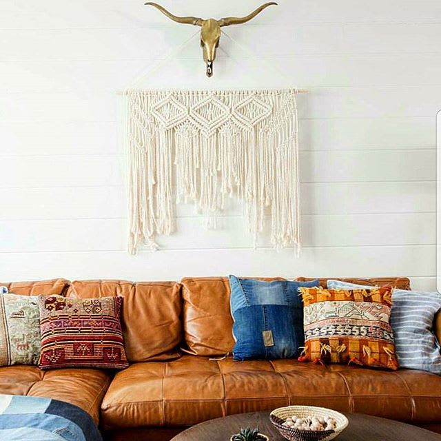 "The ""Kate"", large macramé wall hanging. by Macramania, Macrame Wall Hanging at Private Residence, Beverly Hills, CA"